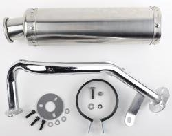 Scooter Performance Exhaust With Stainless Steel Muffler 50cc by Scooter-ATV Parts