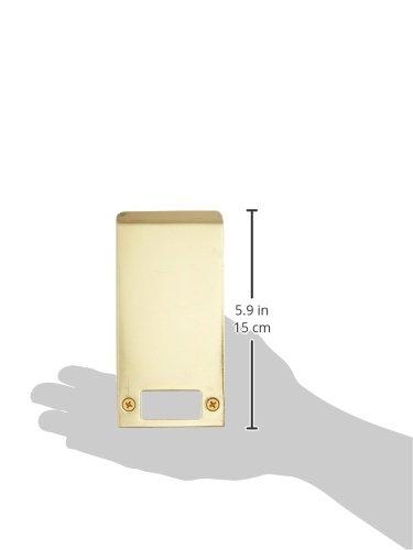 5 Width x 2-3//4 Height Pack of 10 Don-Jo EL 205 13 Gauge Extended Lip Strike Brass Plated