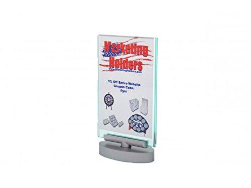 Marketing Holders Swivel Premium Acrylic Green Tint Menu Display Stand Frame 5'' w x 7'' h Pack of 4