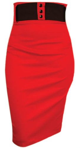 Switchblade Stiletto WAIST PENCIL SKIRT at Amazon Women's Clothing ...