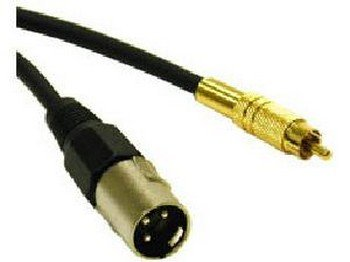 C2G 40047 6FT PRO-AUDIO XLR MALE TO RCA MALE CABLE