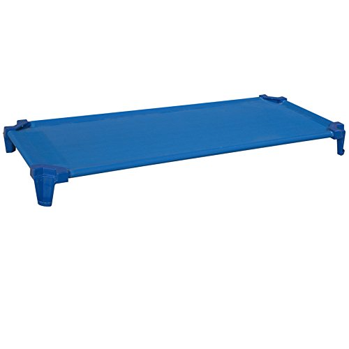 Wood-Designs-WD87801-Space-Saving-Factory-Assembled-Cot-5-x-53-x-23-H-x-W-x-D-Blue-Pack-of-1