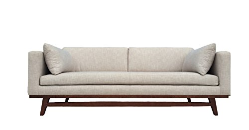 Metz Contemporary Fabric Loveseat, White