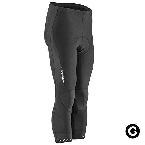 Louis Garneau Men's Optimum Cycling Knickers, Padded and Breathable, Black, Large