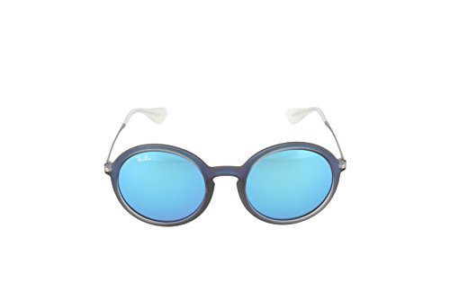 b974228f282 Ray-Ban INJECTED MAN SUNGLASS - SHOT BLUE RUBBER Frame LIGHT GREEN ...