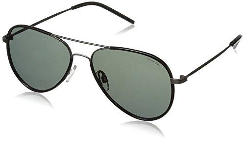 Polaroid Sunglasses Pld1020s Polarized Aviator Sunglasses, Semi Matte Dark Ruthenium/Gray Polarized, 56 - Dark Ruthenium