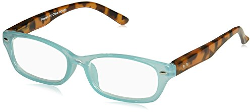 Peepers Women's Straight & Narrow 2392175 Rectangular Reading Glasses, Teal, 1.75 (Reading Glasses Narrow)