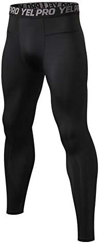 男性の速乾性圧縮パンツクールドライロングベース層レギンススポーツフィットネス下着タイツヨガワークアウトホーム