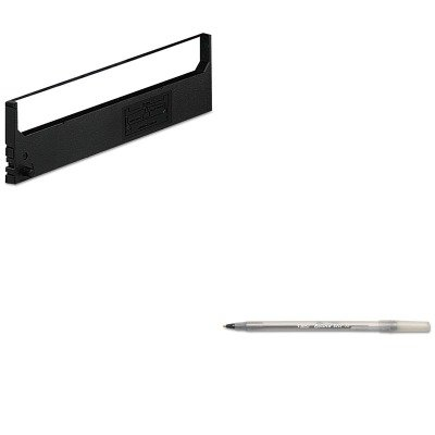 KITBICGSM11BKDPSR1800 - Value Kit - Dataproducts R1800 Compatible Ribbon (DPSR1800) and BIC Round Stic Ballpoint Stick Pen (BICGSM11BK) - Dataproducts R1800 Compatible Ribbon