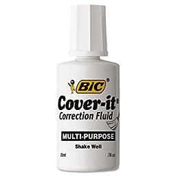 Cover-It Correction Fluid, 20 ml Bottle, White, Dozen, Sold as 12 Each
