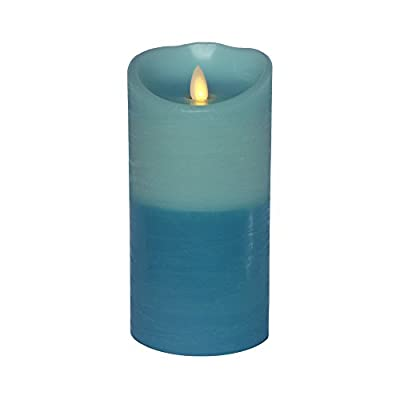 """Most Realistic Moving Wick, Flameless, Real Wax Pillar Candle with Timer - Natural Swaying """"Flame"""". Warm Candlelight. No Fire. Light up but Never Burnout. Clean and Safe. Environment Friendly. New Decor Ideas. Carefree Candle Replacement. Unscented."""