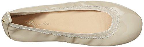 Yosi Samra Samara Flat Patent 2 W, Bailarinas para Mujer Beige (Taupe)