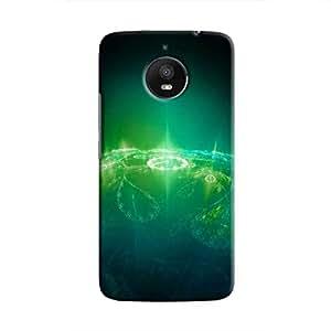 Cover It Up - Green Pattern Planet Moto E4 Plus Hard Case