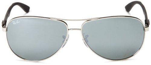 40 Sonnenbrille Espejo Ray Gris CARBON 003 RB Negro Marco Ban FIBRE 8313 Plateado Vidrio O55gHxqw6