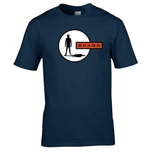 Série Adams De Fi Gerry Shado shirt Bleu Sci Vêtements Classique T Marine Ovni Tv Naughtees vYFqz