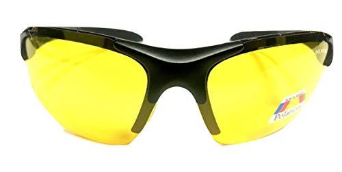 1b89ad19326d5 Jual Half Frame Sport Wrap Around Yellow HD Night Driving Glasses ...