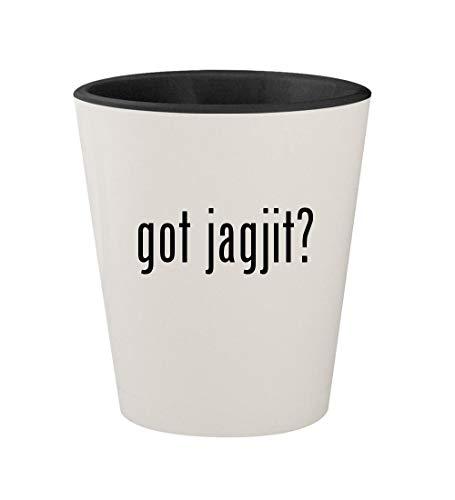 got jagjit? - Ceramic White Outer & Black Inner 1.5oz Shot Glass (Mirza Ghalib Best Ghazals)