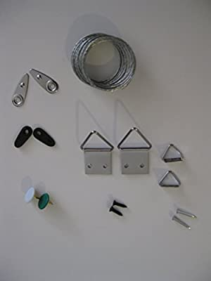 Repair Kit for Wall Photo Frame Picture Hanging Kit, Wires, Push pins, Clips, Screws Hangers