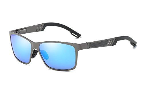 Bevi Polarized Men Square Sport Aluminum Magnesium Driving Riding Cycling Sunglasses - Long Beach Sunglasses