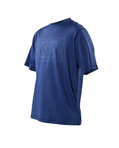 Body Glove Men's Loose Fit Short Sleeve Rash Guard Tops, Navy, X-Large