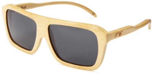 Proof Boise Polarized Oval Sunglasses,Bamboo & Grey,57 - Bamboo Sunglasses Proof