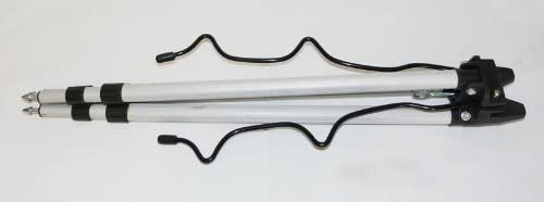 Soytich Kitablage Rutenablage Rutenhalter f/ür 5 Ruten Rutenauflage verstellbar 65-120cm Kitablage