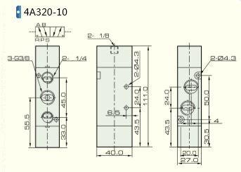 5//2 way Pneumatic Air Pilot Valve 3//8 inch NPT 4A320-10 NPT