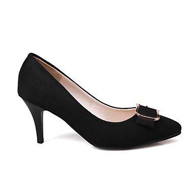 Le donne sexy elegante sandali donna tacchi Primavera Estate Autunno Inverno scarpe Club vello Office & Carriera Abito casual Stiletto Heel Bowknot fibbia Nero Blu Rosso , rosso , us5 / EU35 / UK3 / C