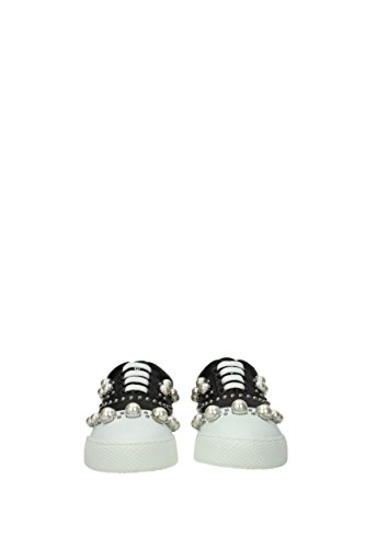Sneakers Femme Noir Miu 5E079BNAPPA3 EU Miu Cuir CO0wSqg