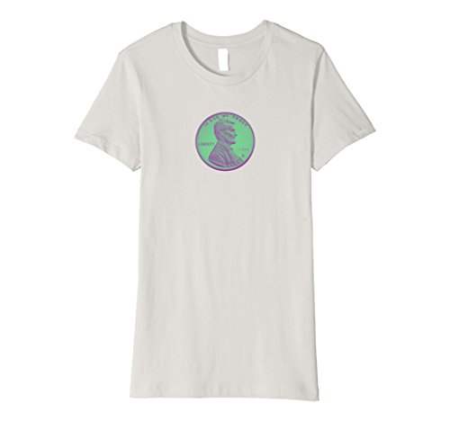 Penny trendy two-tone T-shirt Large Silver ()