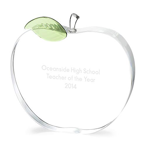 Things Remembered Personalized Crystal Apple Award with Engraving -
