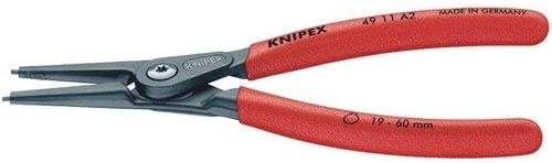 Knipex 75089/140/mm pointe droite Pince Circlip externe 10 25/mm Capacit/é