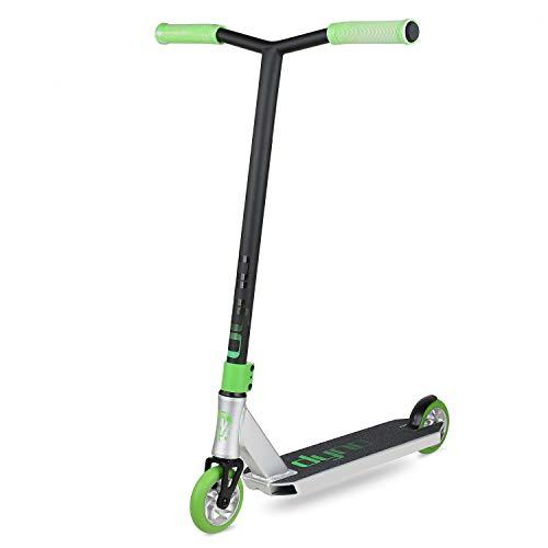 VOKUL Dyno pro Scooter Stunt Scooter perfecto para ciclistas intermedios Freestyle Trick Scooter para niños y adolescentes, plateado, 4.5 x 19.5 pulgadas