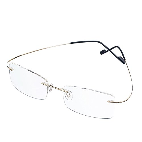 Bi Tao Super Light Titanium Bi-focal lens Bifocals Reading Glasses 2.50 Men Women Fashion Rimless Bifocals Reading Eyeglasses