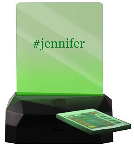 #Jennifer - Hashtag LED Rechargeable USB Edge Lit Sign