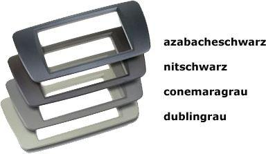 Radioblende Seat Ibiza ab Bj 2008 rubber touch// nitschwarz