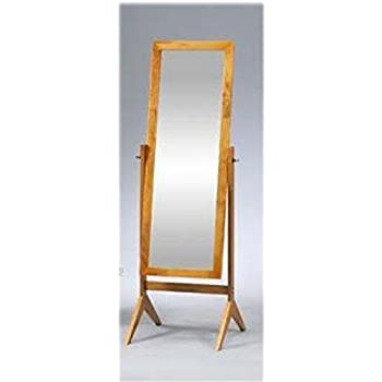 Amazon.com: Legacy Decor Wooden Rectangle Cheval Floor Mirror, Free ...