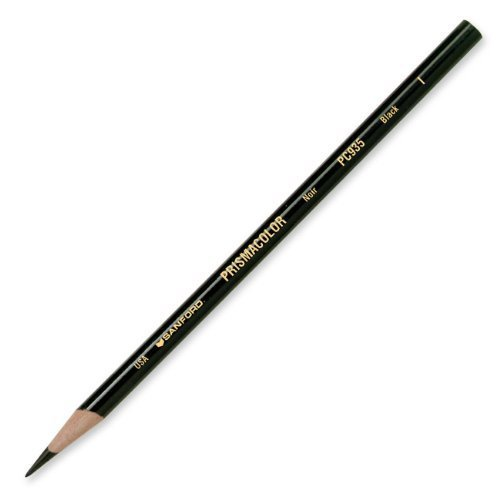 Prismacolor Premier Soft Core Colored Pencil, Black, (2-Pack of 12)