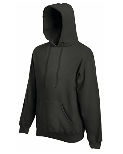 "ns Premium 70/30 Hooded Sweatshirt/Hoodie (L (Chest 41-43"")) (Charcoal) (Fruit Of The Loom Hoodies)"