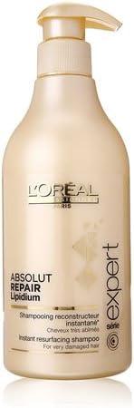 L'Oréal Professionnel Expert - Absolut Repair Lipidium - Champú reconstructor instantáneo para cabellos muy estropeados - 500 ml