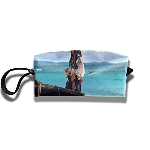 HomeYdecor Jack Sparrow Pirates of The Caribbean On Stranger Tides Travel Toiletry Case Make Up Bag Pencil Case Creative Stationery Students Receive Bags Waterproof Cosmetic Bag]()