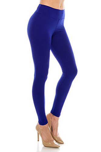 ALWAYS Leggings Women High Waist - Premium Buttery Soft Yoga Workout Stretch Solid Pants Vintage Royal Blue Plus