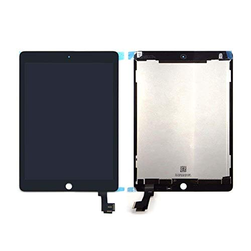 LCD Screen Digitizer Touch Assembly for iPad Air2 iPad air 2nd Gen A1567 A1566, Black White (Black)