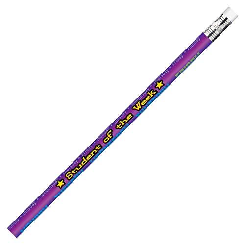 J.R. Moon Pencil JRM2121B Dozen of Student of the Week Pencils, 0.2