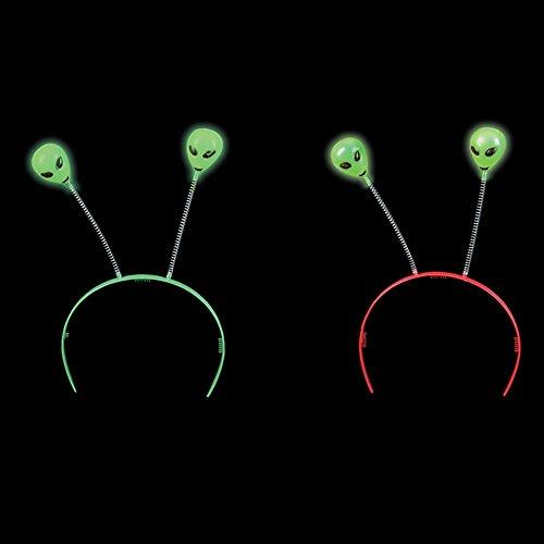 Glow-in-the-Dark Alien Head Boppers Bulk Pack of 12, By 4E's Novelty]()