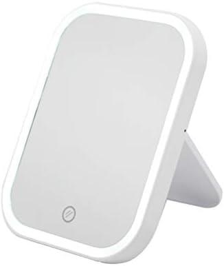 MeiLiu 化粧鏡 化粧ミラー LED化粧鏡 ポータブルミラー タッチスクリーン 調光ライト付き 電池&USB 化粧道具明るさ調節 (乾電池(電池なし)+ USBホワイト)