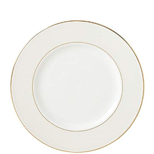 Lenox Opal Innocence Stripe Gold Accent Plate