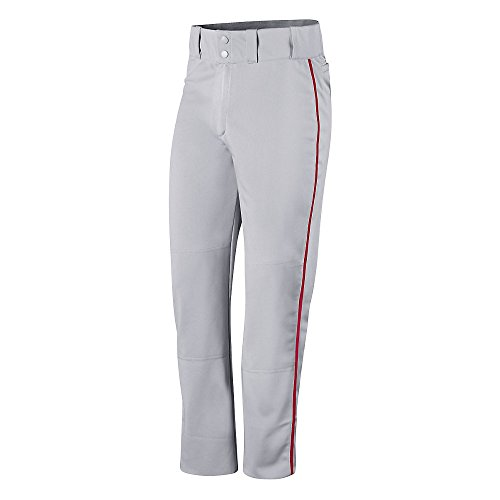 Champion Mens and Youth Prospect Baseball Open Bottom Pant # BS65 Steel Grey/Scarlet