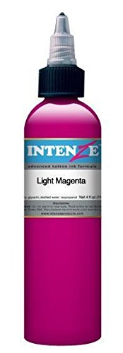 Intenze Tattoo Ink - Light Magenta- 1/2oz Bottle - Intenze Light