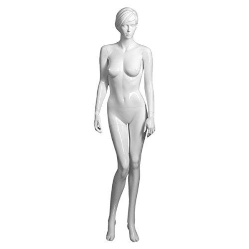 AMKO Elizabeth/1 Upright Glossy White Female Mannequin, Elizabeth 1 (1 Elizabeth)